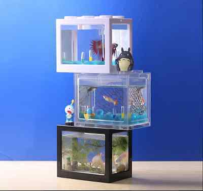 Built-it Block Beta Siamese Fighting Fish Tank