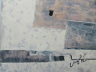 abstract white cream large oil painting canvas grey contemporary modern original