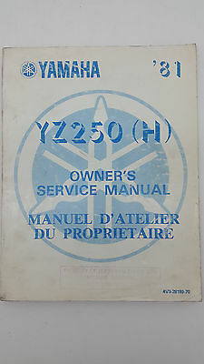 Yamaha Motorbike YZ250(H) Factory Owners Service Manual. 1st ed., September 1980