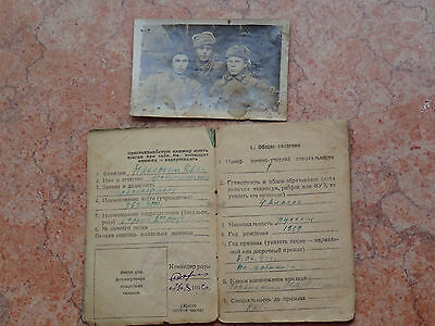 !!! WW2 military 1942 RED ARMY soldier Book / Card used marked +FOTO1944