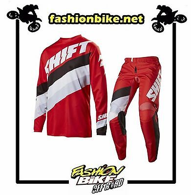 Abbigliamento Cross,enduro Completo Shift White Tarmac Red 2017 Tg 28/s