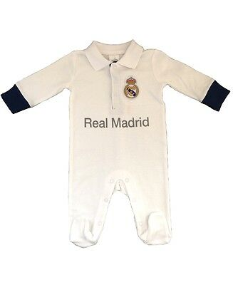 Real Madrid Baby Kit Sleepsuit/Babygrow - 2016/17 Season
