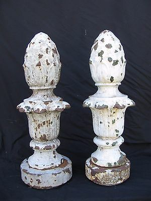 Antique Cast Iron Lamp Post Finials Milwaukee Wisconsin