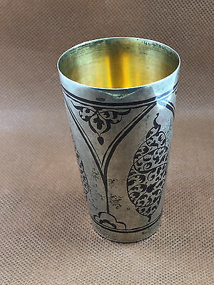 Vintage Russian Solid Silver Nielo shot glass