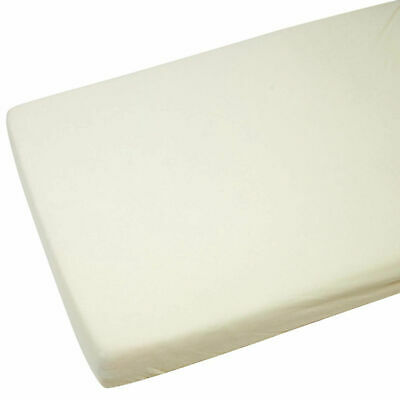 2x Fitted Sheets Compatible With Chicco Next 2 Me 100% Cotton -Cream