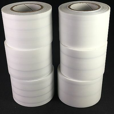 """Seconds WHITE TARP TAPE (6 Rolls) (2""""x 35ft) Ag-Bag Tape / Poly Tape GREAT"""