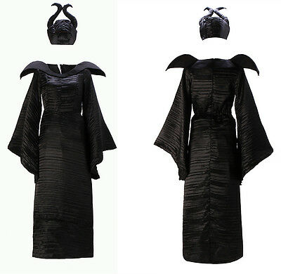 Malefica Vestito Carnevale Donna Dress up Maleficent Woman Costume MLF002