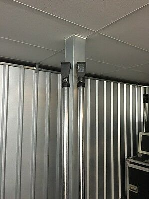 Unicol 2 M Poles, Hook Clamps And Plasma Plate.