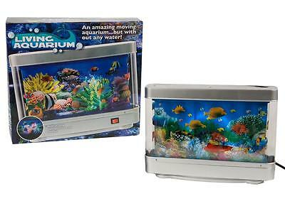 Living Colourful Aquarium Fish Tank With Built Animated Movingin Lamp Light