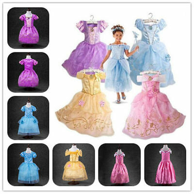Girls KID Princess Snow Queen Party Outfit Birthday X-mas Cosplay Dress Costumes