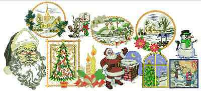 embroidery designs christmas, santa, pack offer price