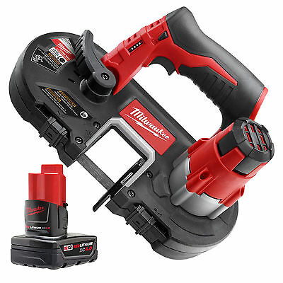 Milwaukee M12 Cordless Sub-Compact Band Saw with XC 4.0Ah Battery 2429-20 New