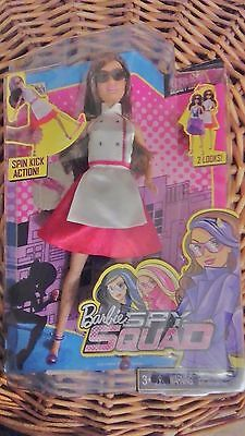 Barbie Spy Squad Teresa Secret Agent Doll Spin Kick  2 Looks Chef to Ball Gown