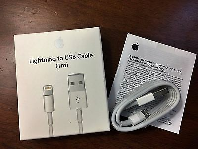 1M Original OEM Lightning USB Cable Apple iPhone 6s 6 5s Data Sync Charger