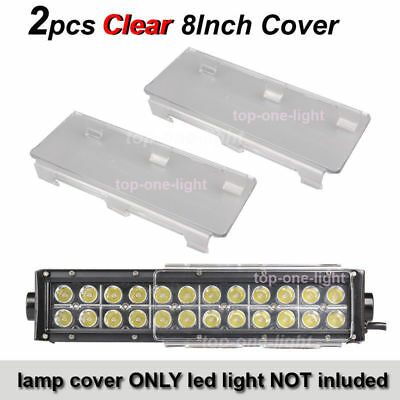"""2X8"""" Inch Clear COVER PROTECT LENS for OFF ROAD LED LIGHT BAR 8''- 40'' 48W-288W"""