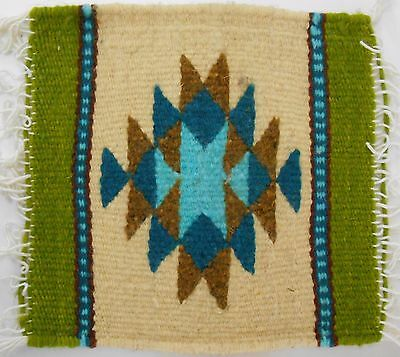 Zapotec wool hand woven 8 x 8 inch Rug & Trivet sells at the Heard Museum $32.00