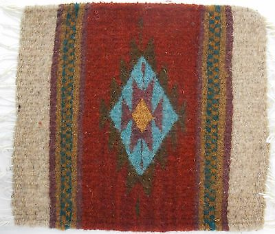 Zapotec wool hand woven 8½ x 10 inch Rug & Trivet sells at the Heard Museum $32