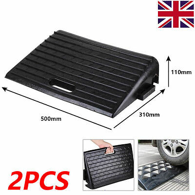 Rubber Kerb Ramps for Cars Caravans Wheelchair Mobility Disabled Access 2 Pack