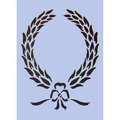 Laurel Wreath A4 Stencil Furniture Project Signs Crafts Spray Paint Plaque 057