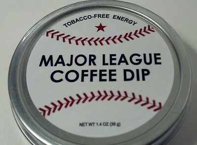Baseball Major League Coffee Dip Chewing Tobacco Alternative Caffeine Energy