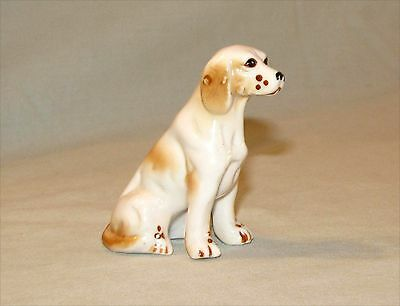 Vintage English Springer Spaniel Porcelain Figurine Red and White Hand Painted