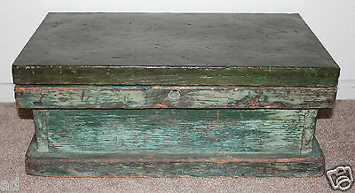 Ships Antique Carpenter Tool Chest Small Trunk Metal Top Inner Drawer ca1900s