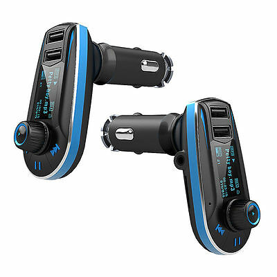 Wireless Car FM Transmitter MP3 Radio Player Charger Kit With Dual USB