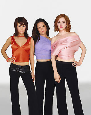CHARMED 2006 Alyssa, Holly & Rose multi-colored garb 8x10 cast portrait
