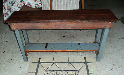 Rustic Wood Sofa Accent Table - Solid Wood - Old Paint - Reclaimed