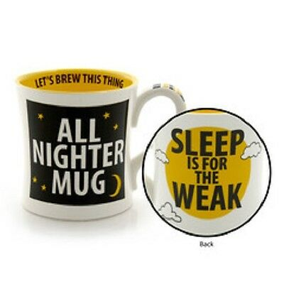 All Nighter Mug Sleep is for Weak Brew This  High School College graduate gift