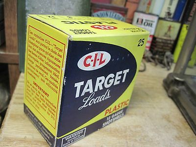 ORIGINAL C I L TARGET LOADS PLASTICEMPTY PAPER shot shell box 12 gauge shotgun