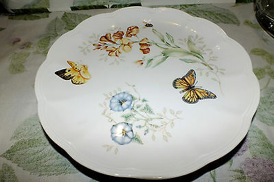 Lenox Butterfly Meadow Monarch Bee Dinner Plate   Exc