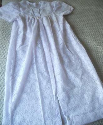 Vintage Target Negligee Brunch Gown White Lace Over Pale Purple Nylon 16