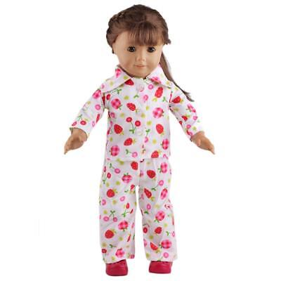 "Cherry & Strawberry Pajamas PJ'S for American Journey My Life Girl 18"" Doll"
