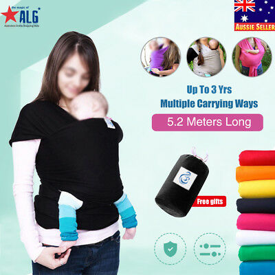 Baby Sling Stretchy Adjustable Wrap Carrier Birth to 3YRS Breastfeeding Pouch