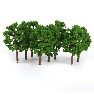 20pcs N SCALE Trees Model Train Layout Garden Scenery Wargame Diorama 8cm