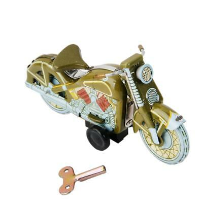 Vintage Wind Up Metal Motorcycle Retro Clockwork Tin Toy Collectible Gift