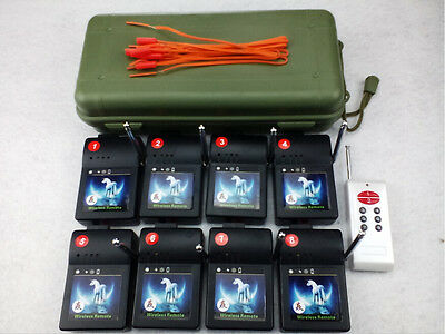 Wireless switch 8 Cues Fireworks Igniter fireworks firing system Electronic Wire