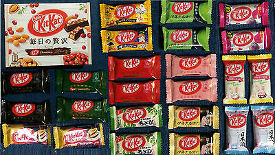 24 pc KitKat Variety Set + 1x NEW Fruit & Nuts Kit Kat - Japanese Chocolate GIFT