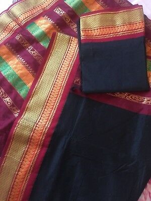 Indian Half Half Banarasi Sari / Kanchipuram / Fancy / Katan Silk Saree 677