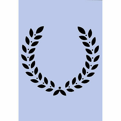 Roman Laurel Wreath A4 Stencil Furniture Project Sign Craft Spray Paint 027