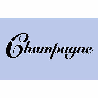 Champagne Stencil 297x189mm Bubbly Sign Re-Usable Airbrush French Wall Craft 011