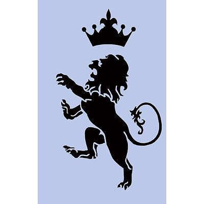 Lion and Crown Stencil 297x189mm Sign Spray Re-Usable Airbrush Royal Craft 34