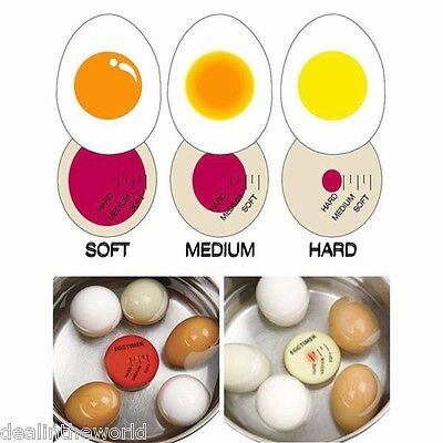 Magic Colour Changing Egg Timer Cook Kitchen Cooking Boiled Eggs Thermometer