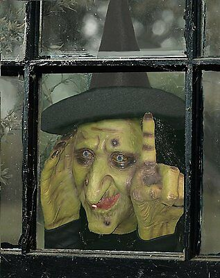 Halloween Decoration - Tapping Witch Scary Peeper - The True-to-Life Motion Prop