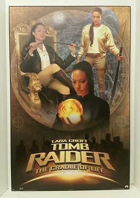 "34""X22"" Angelina Jolie ""Tomb Raider: The Cradle Of Life"" Wooden Mounted Poster"