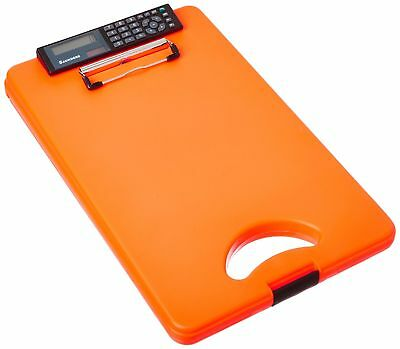 Saunders DeskMate II Plastic Storage Clipboard with Calculator Letter Size 8....