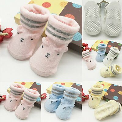 Lovely Baby Kids Boys Girl Newborn Infant Toddler Soft Cotton Warm Socks 0-6M