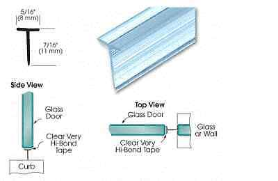 "CRL Translucent Vinyl Edge 'T' Wipe for 7/16"" Max Gap with Pre-Applied Tape"
