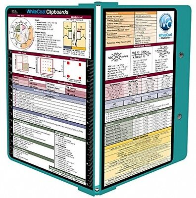 WhiteCoat Clipboard - Teal -Patient documents Clinic Nurses NEW Medical Edition